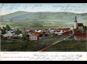 Gruss aus Arnbruck, 1912 gebr. Farb-AK