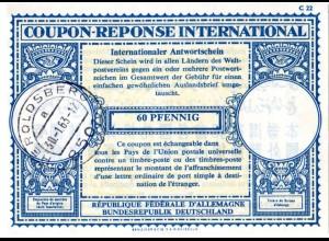 BRD 1963, v. Heroldsberg gebr. 60 Pf. Int. Antwortschein, IAA, Coupon Reponse