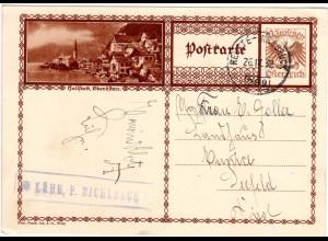 Österreich, Posthilfstellen Stpl. LÄHN, P. BICHLBACH auf Ganzsache m. Bahnpost
