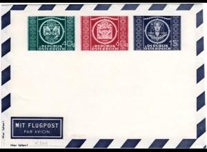 Österreich 1949, 75 Jahre UPU, ungebr. Privat Ganzsache Aerogramm