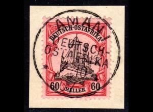 DOA, 60 H. ( Kat. 120 €) auf Luxus Briefstück m. Stempel AMANI. Geprüft