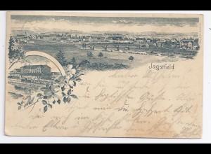 Jagstfeld, 1902 gebr. AK m. Eisenbahn Zug u. Brücke. #1130