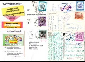 Österreich, 6 Briefe u. Karten m. Porto u. Nachgebühr Stempeln