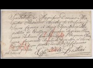 Ungarn 1835, Ovalstpl. OKOLITSNA auf attraktivem Falt Brief. #1687