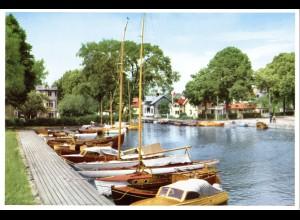 Schweden, Trosa Hamnen, ungebr. großformatige Farb-AK