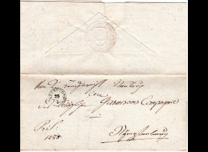 Bayern 1835, Fingerhut Stpl. NEUBURG a/D auf Brief n. Nymphenburg