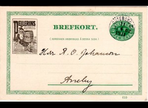 Schweden 1911, 5 öre Ganzsache m. Stpl. Göteborg u. Zudruck Margarine m. Zwerg
