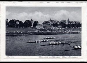 Bremen, Weserpartie m. Sportbooten, 1939 n. Finnland gebr. sw-AK