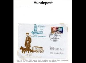 BRD 1982, Hunde Post Ottweiler-Schiffweiler, Sonderumschlag m. 80 Pf.