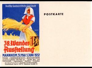 Mannheim, 38. Landwirtschafts Wander Ausstellung, ungebr. Farb-Postkarte