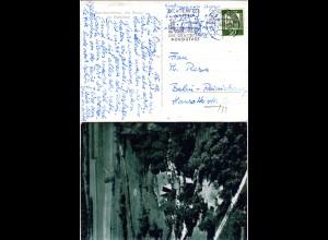 BRD 1961, Landpost Stpl. 13a PRÄCHTING über Lichtenfels auf AK m. 10 Pf.