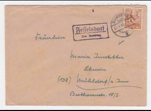 1948, Fesselsdorf über Bamberg, Landpost Stpl. auf Brief m. 24 Pf. #1233