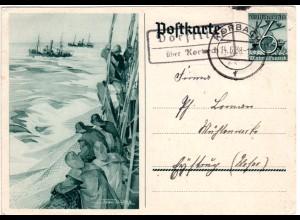 DR 1938, Landpost Stpl. DORFITTER über Korbach auf 6 Pf. Bild Ganzsache