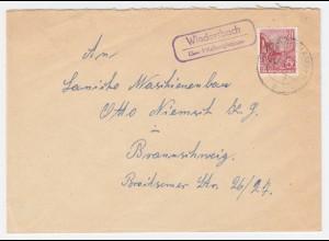 DDR, Wiedersbach über Hildburghausen, Landpost Stpl. auf Brief m. 20 Pf. #1994