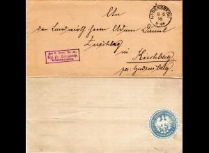 DR 1895, Frei lt. Avers No. 21 Kgl. Pr. Amtsgericht auf Brief v. GUDENSBERG