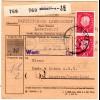 BRD 1961, Landpost Stpl. 22c LAMERSDORF über Düren auf Paketkarte m. 4 Marken