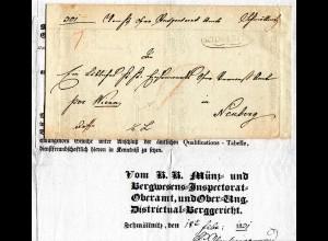 Österreich 1831, Zierstpl. SCHMÖLNITZ auf Brief m. gedrucktem Inhalt