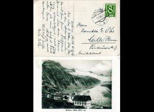 Österreich 1928, Posthilfstellen Stpl. BERLINERHÜTTE auf AK m. 8 G. v. GINZLING