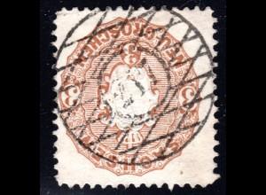 Sachsen, 3 NGr. m. zentrischem Nr.-Stpl. 217 HAINSBERG - DEUBEN