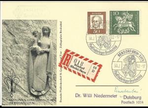 BRD 1962, Pfadfinder scouts Lagerpost Bexbachtal Einschreiben Kte. Bendorf #2680