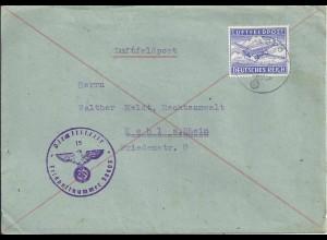 FP WK II 1942, Org. Todt Luftpost Brief m.FP Nr. 38903 u. Zulassungsmarke. #109
