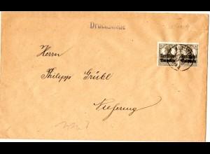 Bayern 1919, MeF 2x2 1/2 Pf. auf Drucksache Brief v. ALTÖTTING