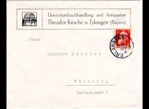 Bayern 1914, 10 Pf. auf illustriertem Firmen Brief v. Erlangen