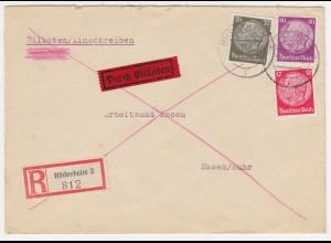 DR 1940, 82 Pf. Frankatur f. Einschreiben Eilboten Brief v. Hildesheim. #1668