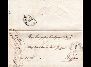 Bayern 1846, HKS WEGSCHEID auf Brief n. Passau