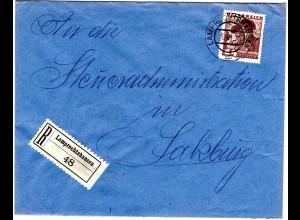 Österreich 1935, EF 64 Gr. auf Einschreiben Brief v. LAMPRECHTSHAUSEN