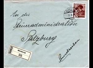 Österreich 1936, EF 64 Gr. auf Einschreiben Brief v. BIRKFELD, Steiermark