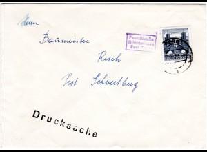 Österreich 1961, 50 Gr. auf Brief m. R1 Posthilfstelle ALLERHEILIGEN Post PERG