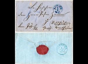Hannover, K2 AURICH auf gesiegeltem Porto Brief n. Waldhausen