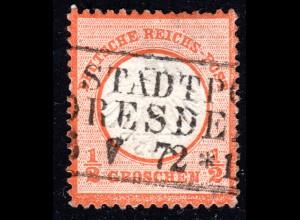 DR 1/2 Gr. kl. Brustschild m. Sachsen-R3 STADTPOST DRESDEN
