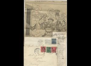 1905, 2 USA Brief m. interessanten Inhalten u.a. zum Russland Japan Krieg. #1992