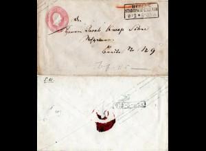 Preussen, 1 Sgr. Ganzsache als Orts Brief m. R3 BERLIN Stadtpost-Exp. VIII