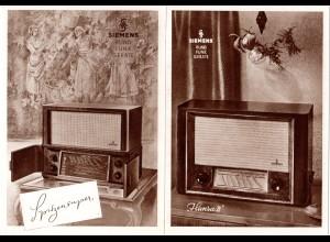 Rundfunk, 2 alte Siemens Radio Reklame-AK.