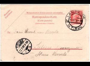 Österreich 1908, 10 H. Ganzsache mit klarem Tirol-Stpl. LANDECK