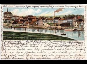 Dänemark, Hilsen fra HADERSLEV, 1902 gebr. Nordschleswig Litho-AK