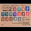 Dt. Dienstpost Ukraine 1943, 16 Marken auf Wert Brief Umschlag v. ROWNO