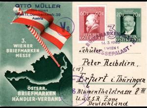 Österreich 1948, 20 Gr. Privat Ganzsache Österr. Briefmarken Händler-Verband