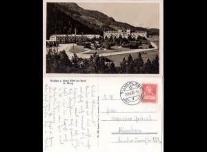 Schweiz St. Moritz, Grand Hotel des Bains, 1930 gebr. sw-AK