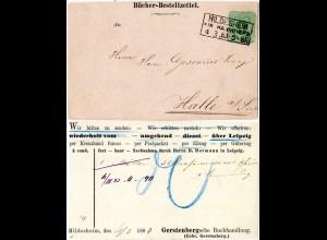 DR 1883, 3 Pf. auf attraktiver Drucksache Karte m. R3 HILDESHEIM IN HANNOVER