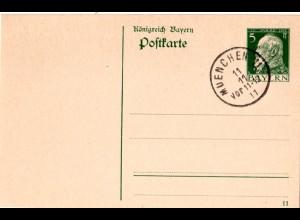 Bayern, München 11 11.11.11 11-12, Datumskuriosum auf Ganzsache m. Druckdatum 11