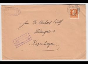 Bayern 1916, Speyer, EF 30 Pf auf Zensur Brief ab Ludwigshafen n. Dänemark #2141