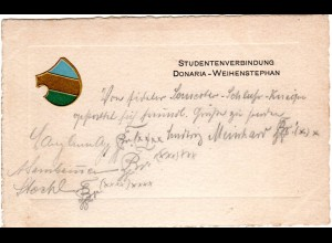 Freising, Studentenverbindung Donaria Weihenstephan, Studentica AK v. 1908