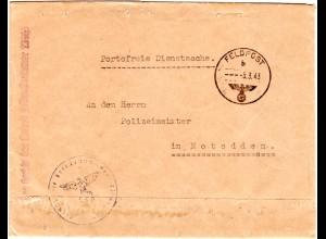 FP WK II Norwegen, Polizei Dienstsache Brief FP Nr. 23965 n. Notodden