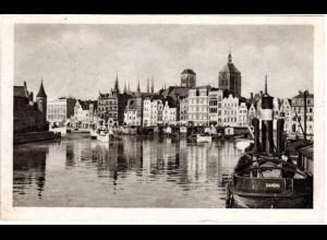 Danzig, Stadtansicht, 1944 v. ZOPPOT gebr. sw-AK
