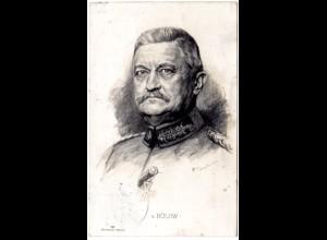 von Bülow, 1915 m. FP gebr. Rotes Kreuz Wohlfahrts sw-AK
