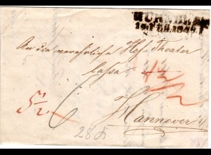 Bayern 1945, Porto Brief v. L2 Nürnberg ins Königreich Hannover